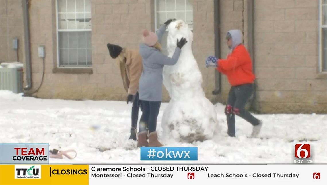 Oklahoma's Own News on 6 visited the OSUIT campus on Wednesday showing our students enjoying the snow day.