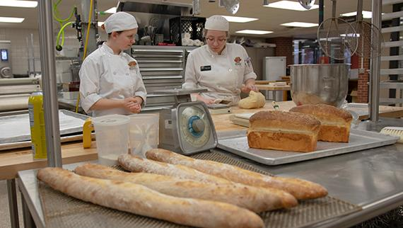 The Culinary Arts students are baking up fresh bread in their Artisan Breads class this semester.   Be sure to keep an eye out for communications from Culinary on extra bread for sale!