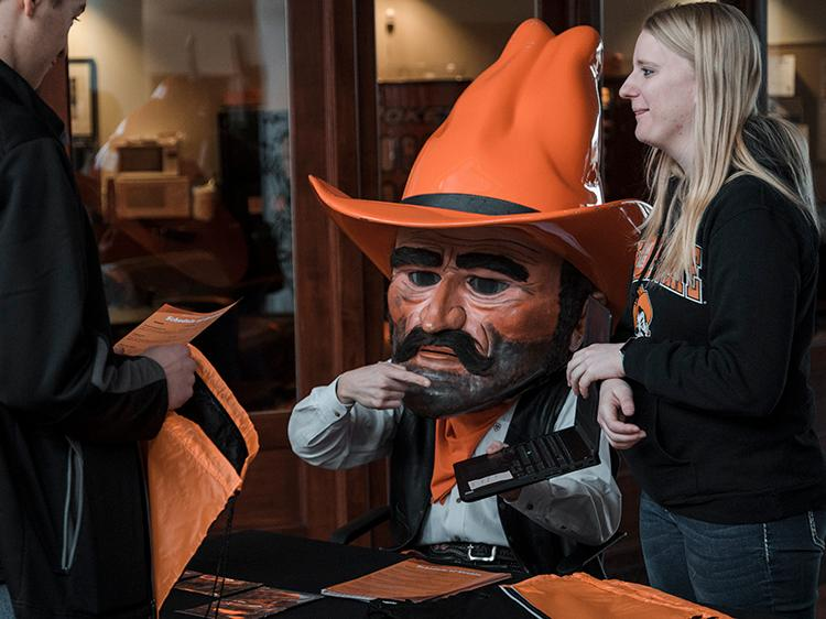 Pistol Pete, Meghan Emerson and prospective students