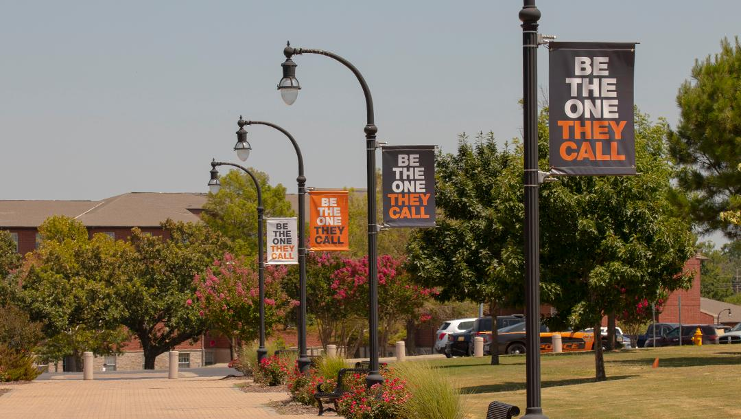 The campus got a refresh this past week with new pole banners.