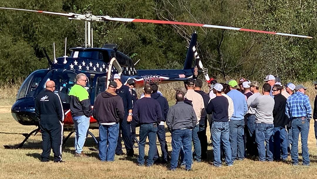 KAMO Power held their annual safety meeting at the Chesapeake and brought in Air Evac for emergency training for their employees.
