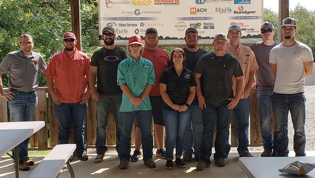 Students from the Natural Gas Compression program attended a sporting clay shoot held by the Mid-Continent Gas Compressors Association in Guthrie, OK.