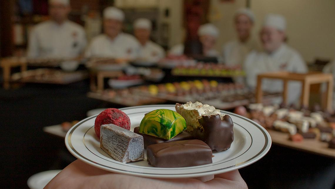 The OSUIT Culinary Arts program showcased their chocolate creations for a campus tasting.