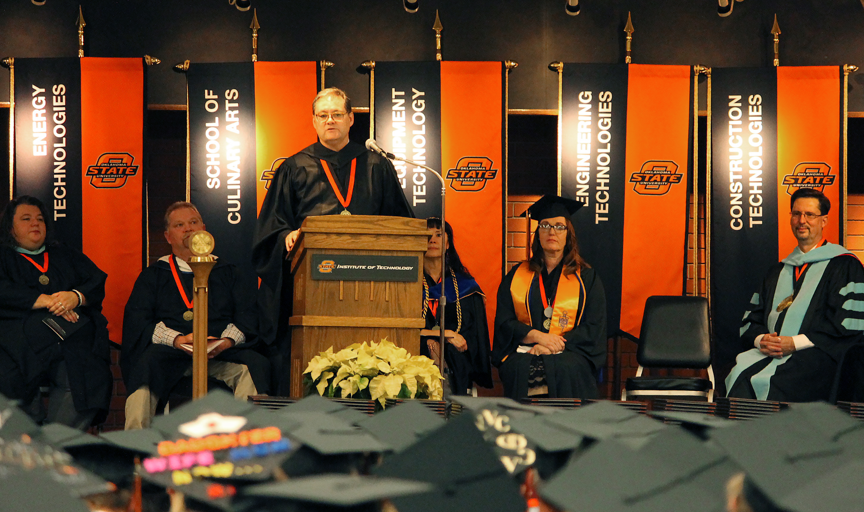 Mark Wyatt at commencement ceremony