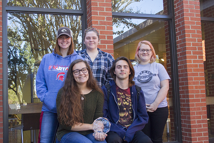 Members of team from VisCom that won first place at the Okmulgee Main Street 48 Hour Film Festival.