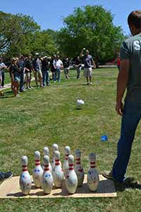 Civil Engineering Club Takes Top Spot in Concrete Bowling Competition Wednesday, May 14, 2014