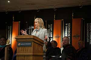 Gov. Fallin Encourages, Congratulates OSUIT Graduates Friday, April 25, 2014
