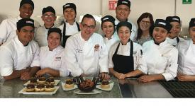 Culinary students with Chef Leiterman at UPAEP