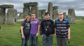 OSUIT students stand in front of Stonehenge during their study abroad trip to the British Isles.