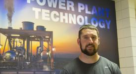 Power Plant Technology student Justin Paterson.