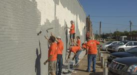 Students from OSUIT provide a day of community service for United Way's Day of Caring